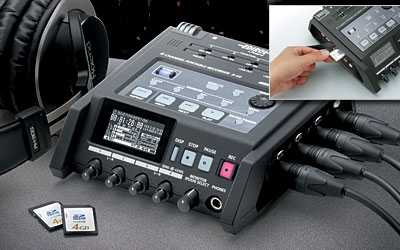 roland r44录下声音小 Roland/罗兰Edirol R44/R-44 4通道便携录音机